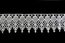 "Unotrim 3"" White and Ivory Rayon Venice Guipure Floral Lace Trim By Yardage"