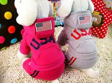 New Hot Fashion Pet Dog USA  Hoodies Puppy Coat Clothes For Small Dogs