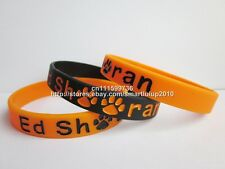 1x Ed Sheeran Inspired filled in color 2colours Silicone Wristband Bracelet Band