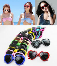 New Womens Retro Stylish Cute Love Heart Shaped Lolita Frame Eyewear Sunglasses