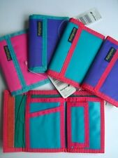 NYLON MONEY WALLET - Choice of Bright Colours - 6 Pockets (1 Zipped)