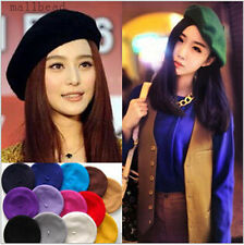 Hot Fashion Women 100% Wool Warm Felt French Beret Beanie Hat Cap Tam 12 colors