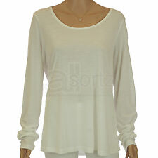 New Ladies Evans White Jersey Tunic Top Size 16 18 20 22 24 26 28 32 Casual