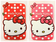 """New Hello kitty Dots TPU Silicone case cover for Samsung Galaxy Tab 3 7"""" P3200"""