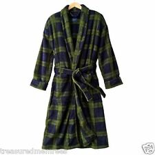Men's Croft & Barrow Plush Plaid Full Length Robe ~ New With Tags MSRP $75