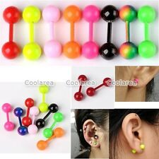 Pick 18G Colorful Stainless Steel Barbell Tragus Ear Cartilage Earrings Piercing