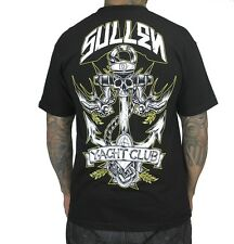 SULLEN CLOTHING YACHT CLUB NAUTICAL ANCHOR ART TATTOO INK PUNK BLK T SHIRT S-5XL