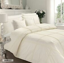 Hotel Quality Duvet Cover Set With 2 Pillow Cases Quality Bed Linen Set Cream CR