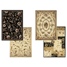 "Transitional Floral Area Rug 5x7 Casual Vines Scrolls Carpet - Actual 5'2""x7'2"""