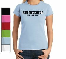 Engineering Sex Can Wait Funny Ladies T Shirt Engineer Student Cute Gift Tee