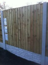 Super Heavy Duty 15mm Vertical Board Fence Panel Straight Top Tanalised 6x5 6x6