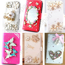 MAGNETIC BLING DIAMOND WALLET CARD LEATHER FLIP CASE soft COVER For Sony Xperia