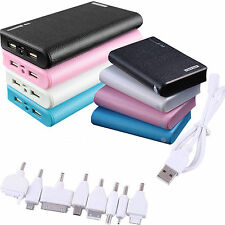 External Portable Power Bank Backup Dual USB Battery Chargers F. iPhone samsung