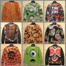 New Womens Mens 3D realistic Space Galaxy Animal Print hoodie Sweater Sweatshirt