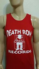 Death Row Records RED   TANK TOP / NWA / DIAMOND / OBEY / LA  RAPPERS CALI 2PAC