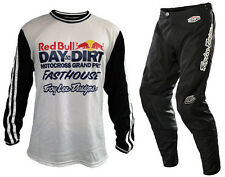 NEW TROY LEE DESIGNS SUPER RETRO RED BULL DAY IN THE DIRT MX BIKE COMBO BLACK