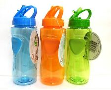 Premium Plastic Sports Water Bottle Hanging Cap&Straw -BPA Free-Hot/Cold-500ML