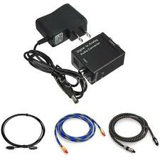 Digital Optical Coaxial RCA Toslink Signal to Analog Audio Converter Adapter TV