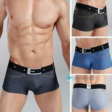 Hot Xuba 95%Cotton+5%Modal Shorts Men Underwear False Belt Jeans Boxer Briefs xp