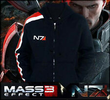 NEW Mass Effect 3 N7 100% Cotton Cosplay Hoodie Coat Costume Jacket F&P