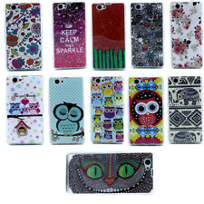 For SONY Xperia Z1 MINI OWL ANIMAL KALM TPU Back Case Skin Cover