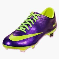 NIKE Mercurial Vapor IX FG Metallic Purple Volt Soccer Cleats Boots NEW Mens 7 9