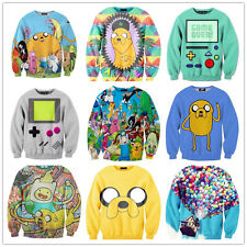 New 2014 Adventure Time Print Women Hoodies Cartoon Female SWEATSHIRT Pullovers