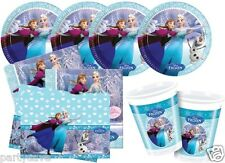 DISNEY FROZEN PARTY KITS GIRLS PLATES CUPS NAPKIN TABLECOVER FOR 8 16 24 32 40