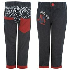 SPIDERMAN:MARVEL 2014  DENIM JEANS,3/4,5/6,7/8YR,NEW WITH TAGS