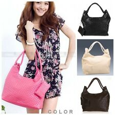 Korean Style Lady Shoulder Bag PU Elegant Handbag Casual Satchel Purse Hobo Tote