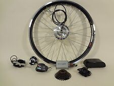 """Ebikeling Electric Bicycle Conversion Kit 36V 350W Geared 26"""" Front Rear ebike"""