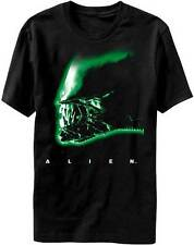 Alien Face Profile Official Licensed Movie Adult T-Shirt - Black -