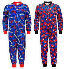 Marvel Comics Spiderman Official Gift Boys Kids Pyjama Onesie Blue (RRP £14.99!)