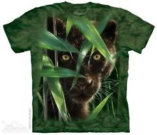 THE MOUNTAIN WILD EYES EXOTIC BLACK JUNGLE CAT FIGHT WILD FAST T TEE SHIRT S-5XL