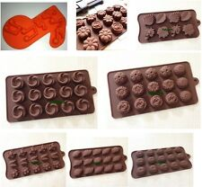 Rose Leaf Flower Shell Cake Mold Flexible Silicone Mold For Candy Chocolate Soap
