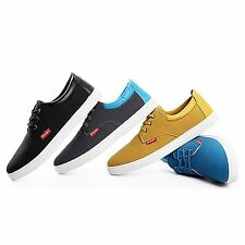 3-Eye Laced Up Comfort Round Toe Men Casual Sneaker Shoes Black Gray Blue Brown