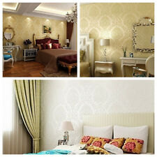 10M 3 Color High-Quality Style Non-Woven Feather Art Living room Wallpaper Rolls