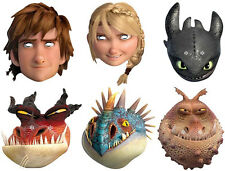 HOW TO TRAIN YOUR DRAGON 2 - OFFICIAL LICENCED CARD FACE MASKS- 6 TO CHOOSE FROM