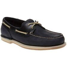 New Mens Rockport Blue Perth Leather Shoes Boat Lace Up
