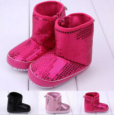 New Warm Winter Blingbling Newborn Prewalker Baby Ankle Snow Boots Booties Shoes