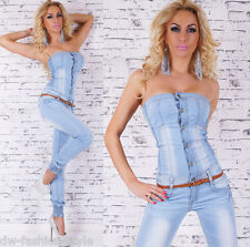 GR.S+M+L+XL+XXL JEANS OVERALL BANDEAU OVERALL BLUE USED