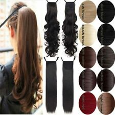 real high-end Drawstring Wrap Around Clip In Ponytail Pony tail Hair Extension