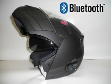 BLACK MODULAR FULL FACE MOTORCYCLE HELMET with 2 SPEAKER  BLUETOOTH  / DOT RATED