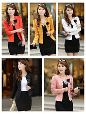2014 Fashion women's spring and summer new solid color Slim small suit jacket