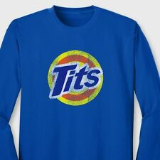 TITS Funny Tide Soap Parody Rude T-shirt College Humor Gag Gift Long Sleeve Tee