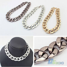 Fashion Jewelry Crystal Chunky Statement Chain Pendant Necklace Bib Choker