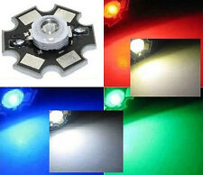Hi-Power LED 3W STAR Weiß Warmweiß Blau Rot Grün