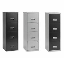 Pierre Henry Metal 4 Drawer Filing Cabinet Lockable A4 Home Filer ©