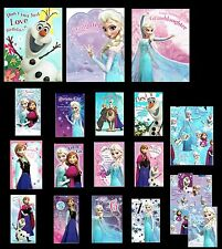 DISNEY FROZEN ~ OFFICIAL ~ Birthday Cards ~ open, Sister, Age 4, 5, 6, 7 or Wrap