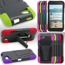 Hybrid Armor  Dual Layer Hard Soft Rubber Case Cover For HTC First AT&T